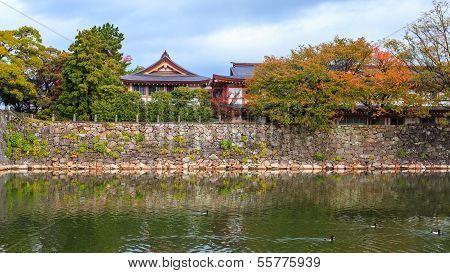 The wall of Hiroshima Castle