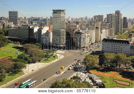 View of Recoleta region of Buenos Aires.