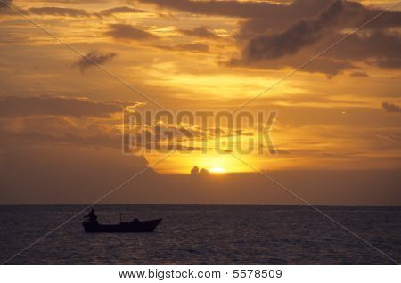 Sunset On The Ocean -bayahibe - Dominican Republic