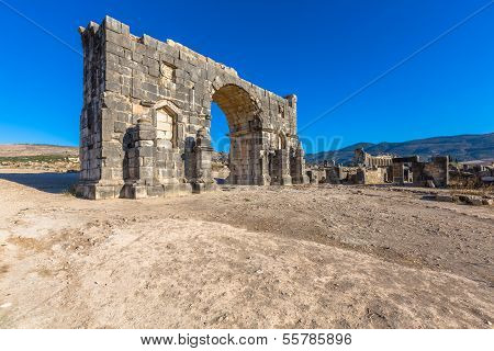 Arch Of Caracalla In Volubilis, Morocco
