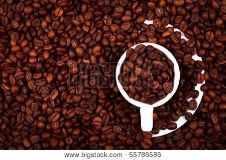 Cup With Coffe Beans