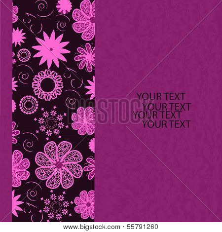 Floral Invitation Card,vector Illustration