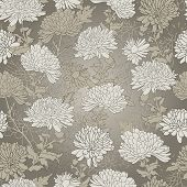 foto of chrysanthemum  - Floral pattern - JPG
