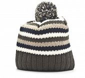 pic of pon  - Wool hat on white background - JPG