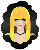 picture of ruddy-faced  - Vector illustration of a blonde with blue eyes - JPG