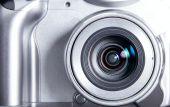 pic of megapixel  - Compact silver modern camera closeup - JPG