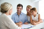 stock photo of financial  - Family meeting real - JPG