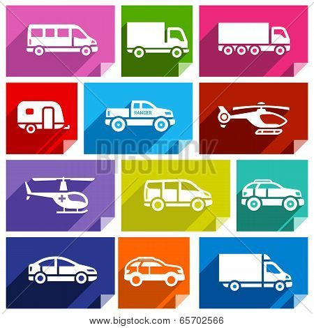 Transport flat icon, bright color-03