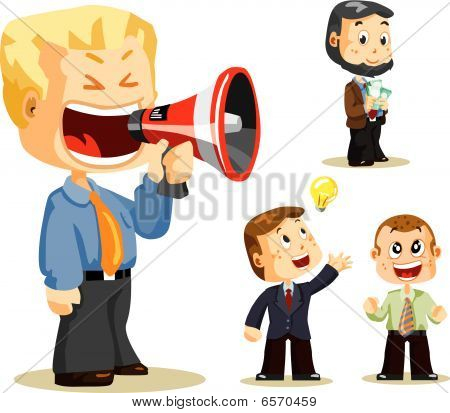 Megaphone. Business People