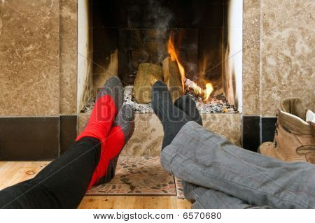 Warming By The Fire