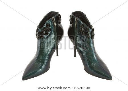 Low Ladies' Nacreous Boots With Stones