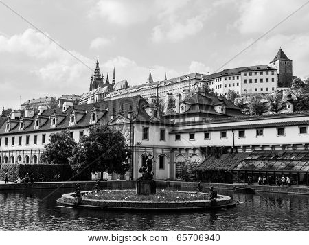 Garden Of Albrecht Of Wallenstein And Prague Castle