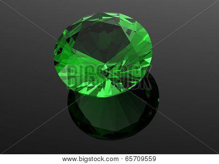 Luxury 3D diamonds render. Jewelry gemstone. Emerald