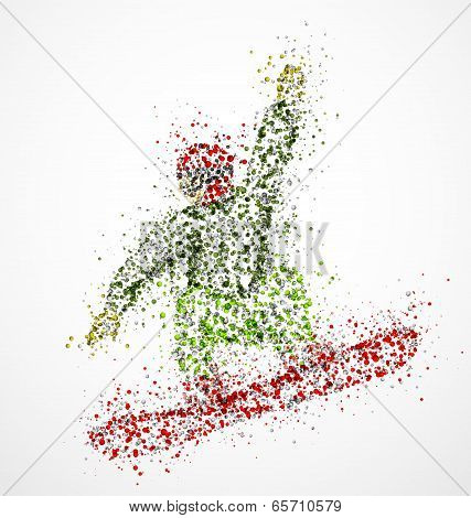 Abstract Snowboarder