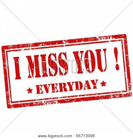 I Miss You!-stamp