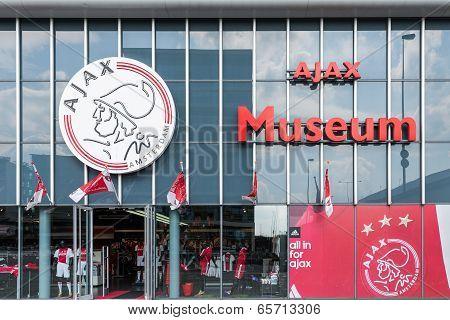 Entrance Museum Of The Dutch Football Club Ajax