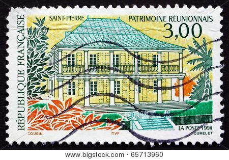 Postage Stamp France 1998 Sous-prefecture Hotel, Reunion