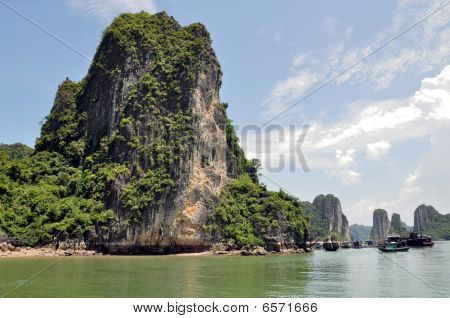 Halong Bay Limestone Island-Mountain
