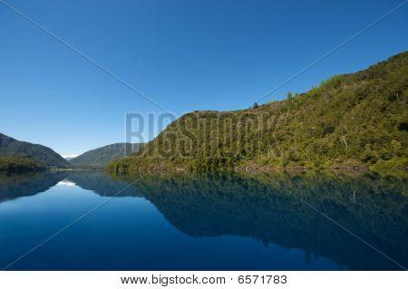 Blue Patagonian Lake