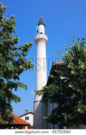 Minaret of Mosque Mahmut-beyâ??s in Prijepolje, Serbia