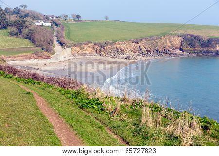 Porthcurnick beach Cornwall England UK Roseland peninsula