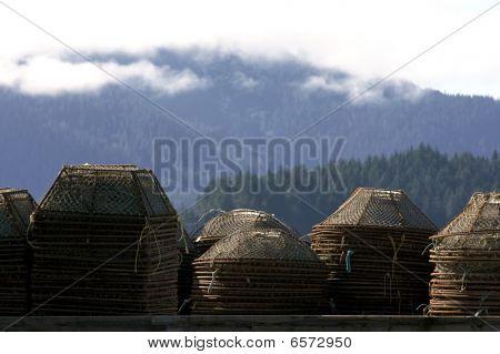 Alaskan crab pots