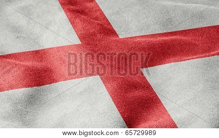 Oblique view of the Flag of England