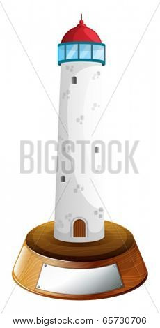 Illustration of a tower trophy on a white background