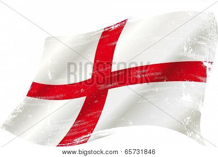 England grunge flag. flag of  England in the wind with a texture