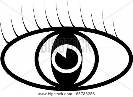 Black vector eye symbol illustration