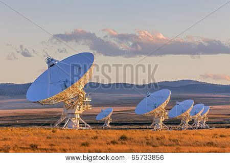 Very Large Array Satellite Dishes