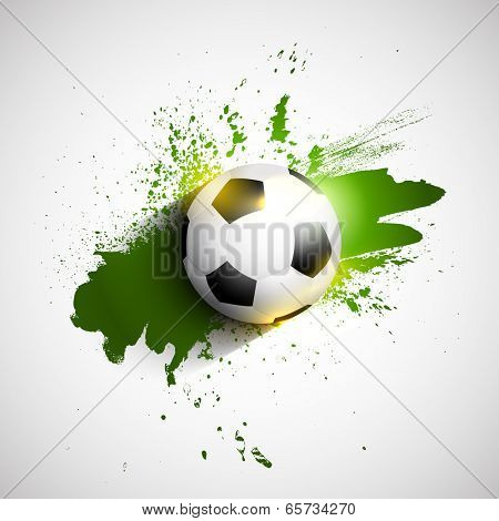 Soccer or football on a grunge background