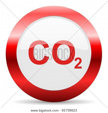 carbon dioxide glossy web icon
