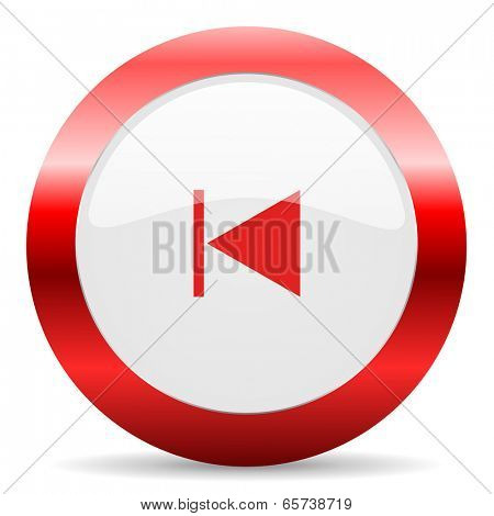 prev glossy web icon