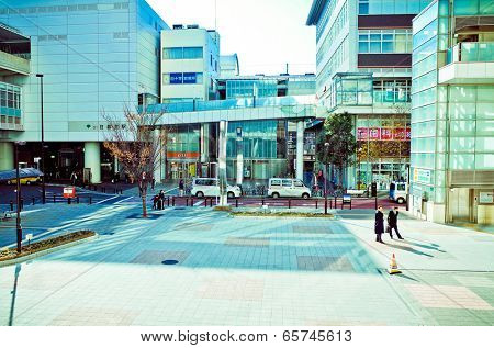 Shinjuku, Tokyo - December 17: Street view of Shinjuku. Shinjuku is a special ward located in Tokyo Metropolis, Population density of 17,140 people per km�?�?�?�². December 17, 2013 in Tokyo, Japan.