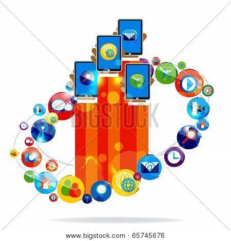 Social networking vector design