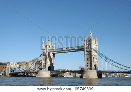 Tower Bridge over River Thames in London