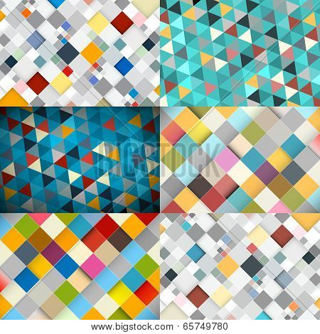 Abstract Vector Square and Triangle Background