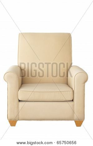 white armchair isolated on white