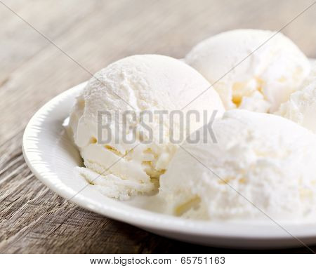 Scoops Of Vanilla Ice Cream