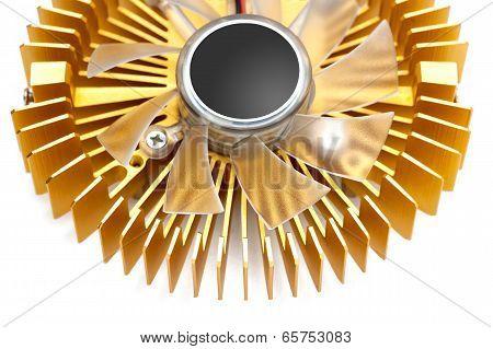 Golden Cooling Fan