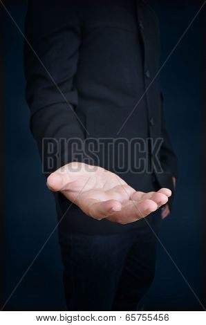 An Empty Hand Of A Businessman