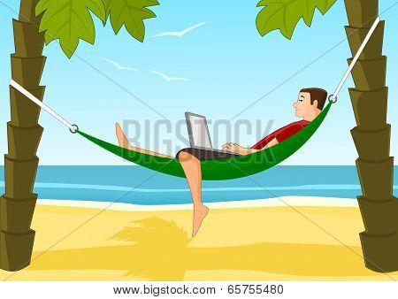 Work on a beach