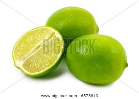 Green limes.