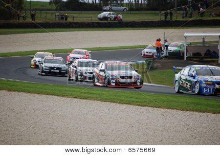 Australische V8 Super Car Race Phillip Island