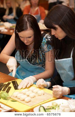 Females Cutting Nori