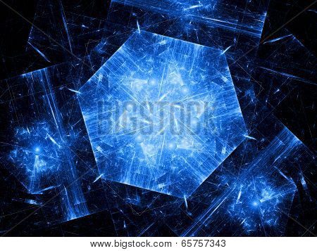 Blue Hexagonal Object, Nanotechnology