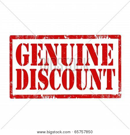 Genuine Discount-stamp