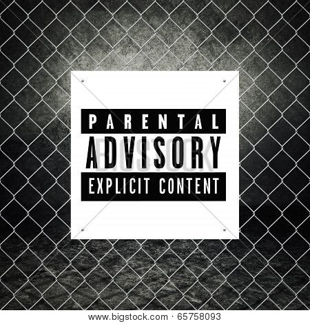 Parental Advisory Label Printed On Poster