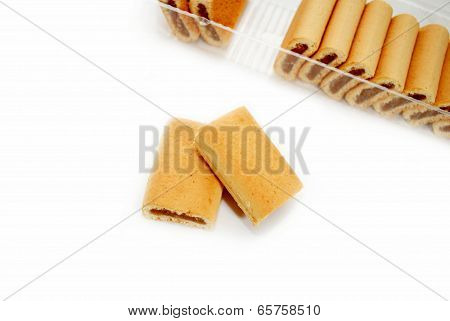 Fig Dessert Cookies With A Package In The Background